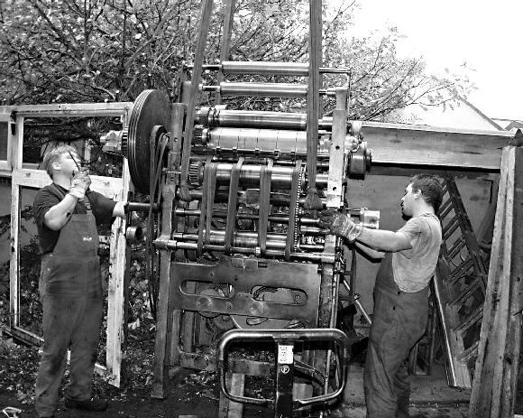 Gr Ne norderney chronik einer insel historische druckmaschine marke